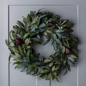 Studio McGee Nasturtium Tobacco Leaf Berry Wreath